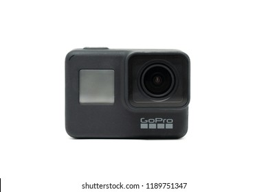 BANGKOK,THAILAND-SEPTTEMBER 27: Image of The New GoPro HERO 7 Black with New  Hypersmooth Feature  Function on September 27,2018