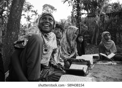 Bangladesh - Nov 06, 2013: Bengal students during class