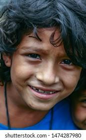 Bangladesh.Dhaka 22.05.2007 7:33 illustrative editorial.Girl rejoices in life.Soon to go to school
