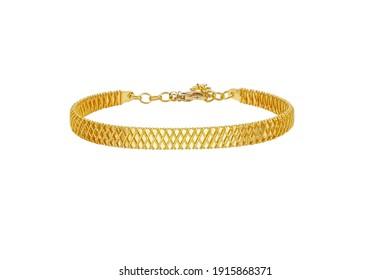 A bangle bracelet isolated on the white background.