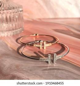 Bangle Luxury Gold Silver Gift - Shutterstock ID 1910468455