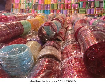 Bangles at a shop for karvachauth festival