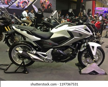 Bangna, Bangkok,Thailand. August 20, 2018:Bangkok International Grand Motor ฺBig Sale 2018. Bigbike Motorcycle Honda NC750X It is popular and has attracted the interest of motorcycle enthusiasts.