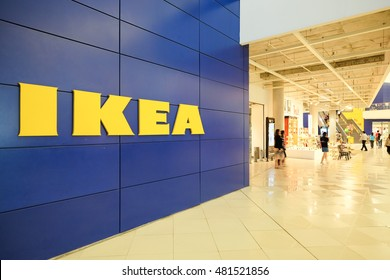 BANGNA, THAILAND-SEPTEMBER 9, 2016: The Ikea store of Thailand. IKEA is the world's largest furniture retailer and sells ready to assemble furniture. Founded in Sweden in 1943