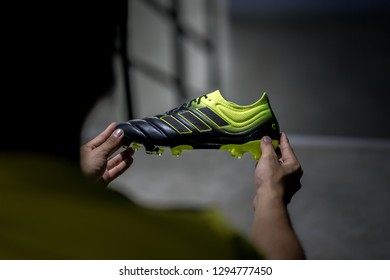 acc0f6e6 Bangoko / Thailand - January 2019 : Adidas launch Copa 19.1 in new colour  way as