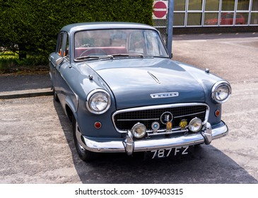 Bangor, Down, Northern Ireland, UK - May, 26, 2018: A Standard Ensign at a car rally.  Manufactured from 1957  to 1961 the Ensign was made by the Standard Motor Company, Coventry, England.