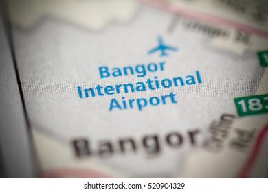 Bangor International Airport. Maine. USA