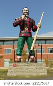 BANGOR, MAINE , USA - AUGUST 27: Statue of Paul Bunyan the giant lumberjack on august 27 in Bangor, USA
