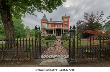 BANGOR, MAINE, USA - AUGUST 4, 2018: Author Stephen King's house on Broadway in Bangor