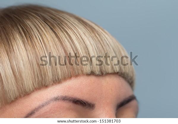 bangs haircut at the beauty salon