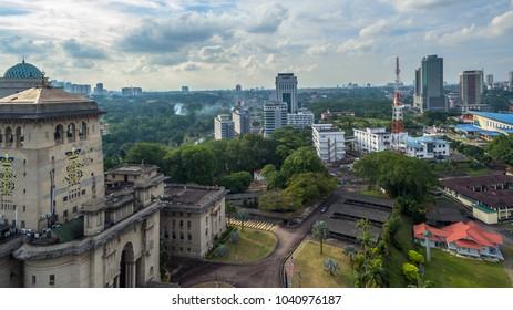 BANGUNAN SULTAN IBRAHIM - 8/3/2018 : Beautiful view of Johor Bharu City .
