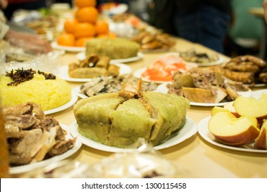 Banh chung - special Vietnamese food for new year party