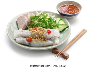 banh cuon, riz à la vapeur, roulottes de nouilles, petit déjeuner vietnamien
