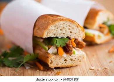 Banh mi pork sandwich