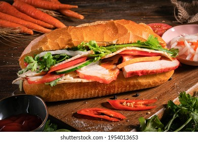 Bánh mì or banh mi is the Vietnamese word for bread.