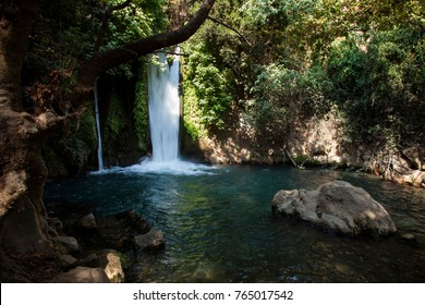 Banias Waterfall in the Golan Heights Israel