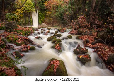 The Banias Waterfall in the Golan region of Israel. It is the most powerful waterfall in Israel at 10 meters high.