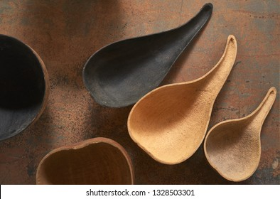 Baniwa Ethnic South America Cook Utensils Used to Prepare Manioc Dishes in Amazonian Native Tribes of Colombia, Venezuela, Peru and Brazil Rainforest Across Rio Negro Region