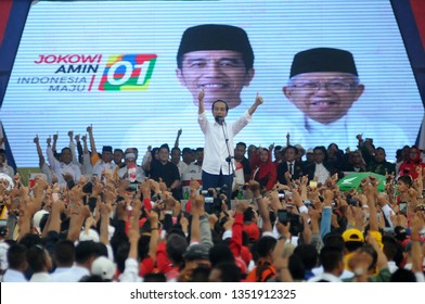 Banjarmasin, South Kalimantan, Indonesia, 27 - March - 2019: Prospective President Joko Widodo campaigned in Banjarmasin