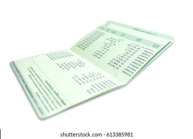 bank account passbook, Isolated white background