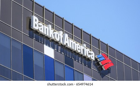 Bank of America in Beverly Hills - LOS ANGELES / CALIFORNIA - APRIL 20, 2017