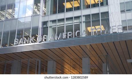 Bank of America Tower in New York - NEW YORK / USA - DECEMBER 4, 2018