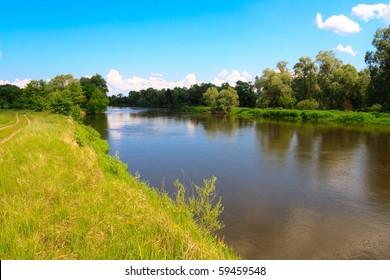 Bank of Bug river near polish border.