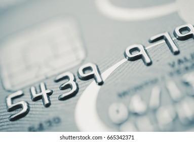 Bank card up close - Split toned