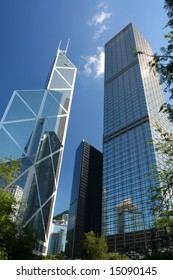 Bank of China, Central district - the financial business center of Hong Kong