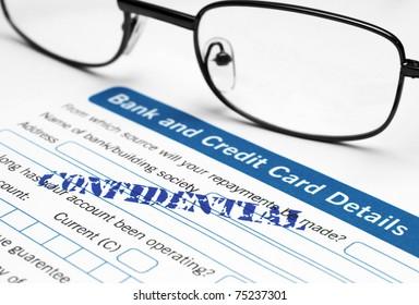 Bank detail - confidential