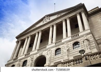 Bank of England - architektonisches Wahrzeichen von London, Großbritannien.