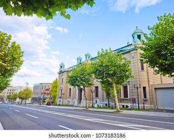 The Bank of Japan Otaru Museum in Otaru town, Hokkaido, Japan.