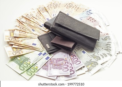 Bank notes and wallet