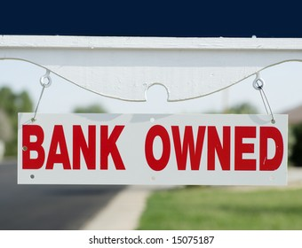 Bank repo open house sign board