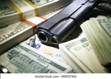Bank Robbery Stock Photo