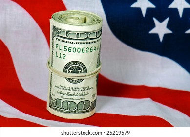 bank roll on flag