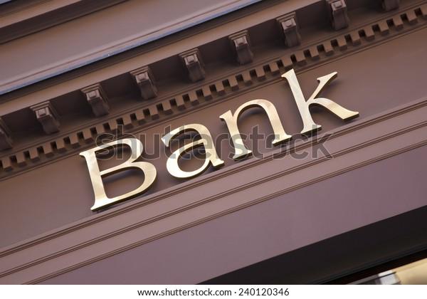 Bank Sign on Branch Facade