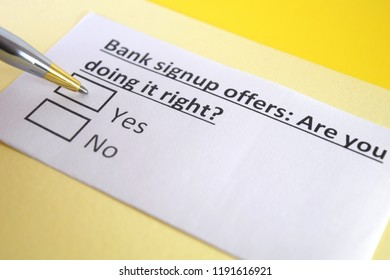 Bank signup offers: Are you doing it right?