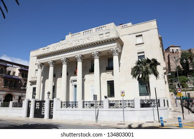 Bank of Spain in Malaga, Andalusia Spain