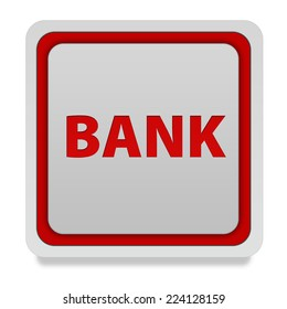 Bank square icon on white background