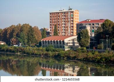 bank of the Tanaro river of alexandria in Piedmont