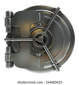 bank vault door isolated on white background High resolution 3d
