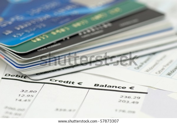 banking expenses, credit cards on bank invoice. very shallow DOF