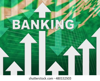 Banking Graph Showing E-Banking And Finance Chart