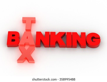 Banking and tax payment  concept