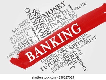 BANKING word cloud, business concept