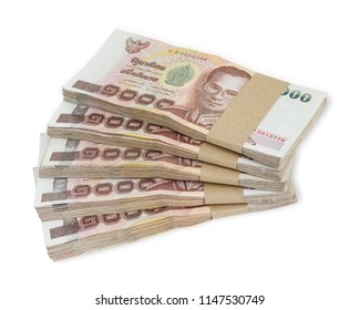 Banknote 1000 baht Thai isolated on white background. This has clipping path.