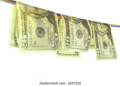Banknote on a white background