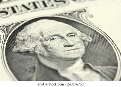 banknote of one dollar closeup