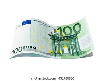 Banknote in one hundred euro isolated on a white background